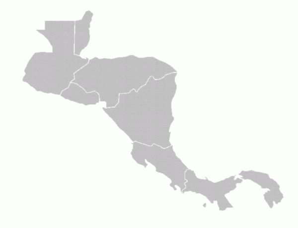 blank map of south america and central america. Central America
