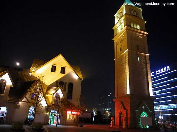 Western style town in Taizhou's China Medical City.