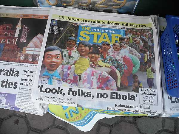 Ebola Philippines Newspaper