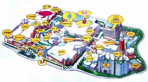 Map of the New South China Mall