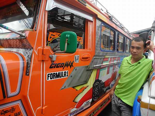 Philippines Jeepney and driver 2