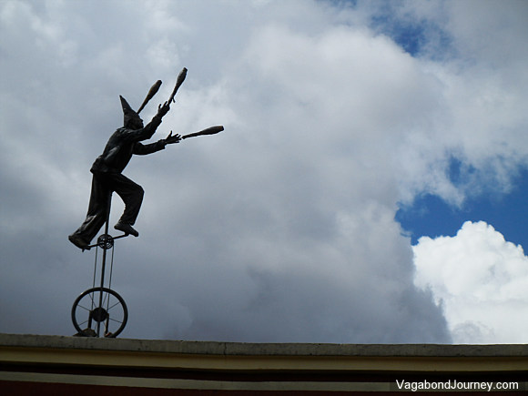 Juggler Art Installation in Bogota