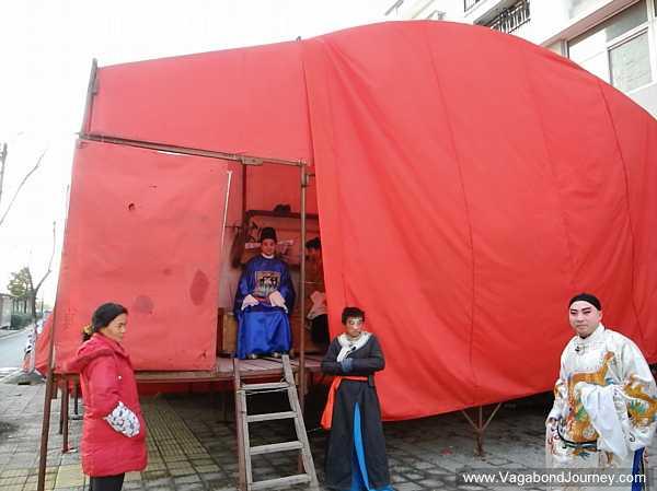 Chinese opera performance tent