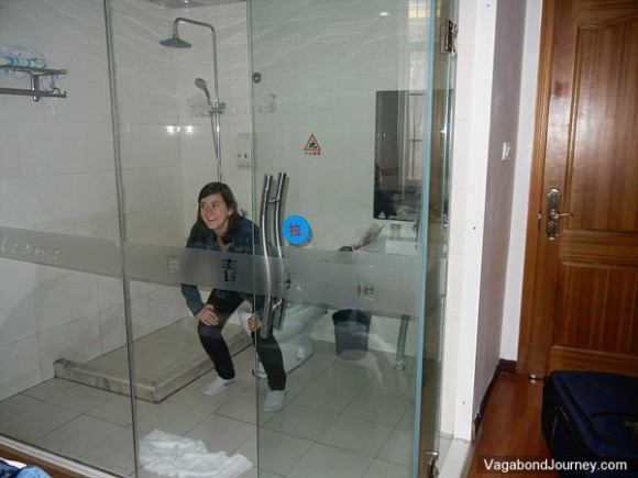 Exceptional See Through Glass Bathroom Walls In Hotels In China