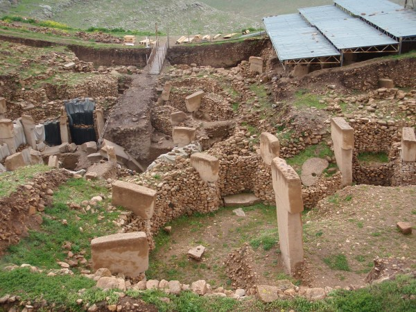 Le chantier de fouilles