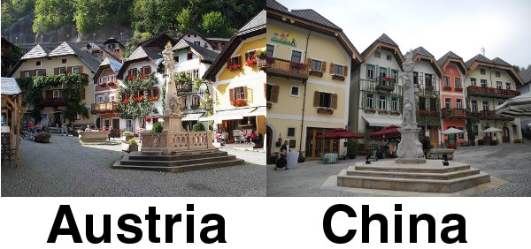 Hallstatt Austria and China