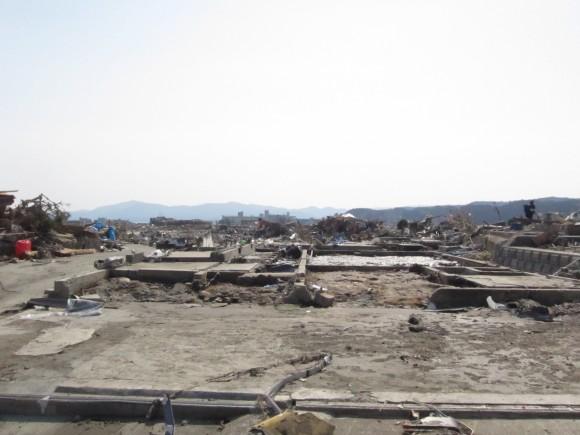 Japan tsunami in Minamisanriku