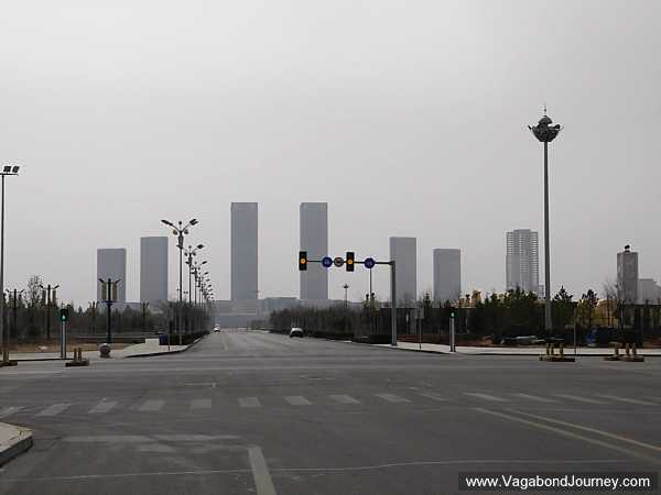 Ordos Skyscrapers Rising In The Distance