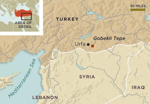 L'emplacement de Göbekli Tepe