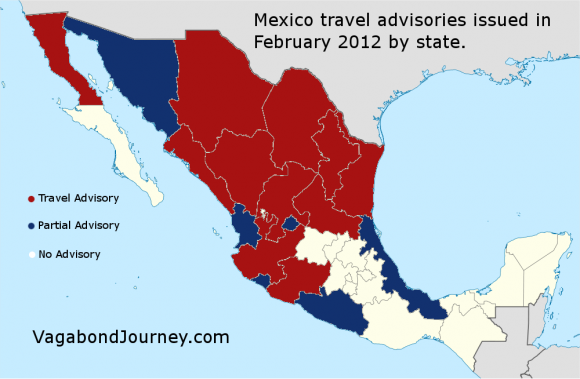 Mexico Map Dangerous Areas