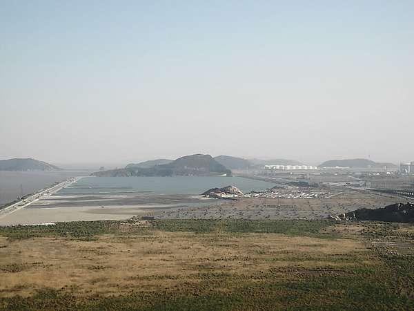 Reclaimed land on Yangshan