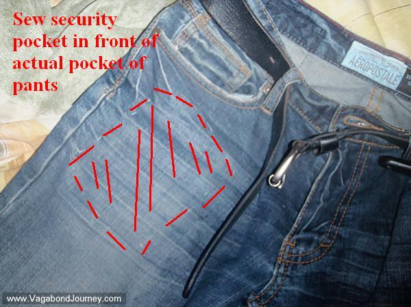 Hidden pockets to carry travel valuables for Travel gear hidden pocket