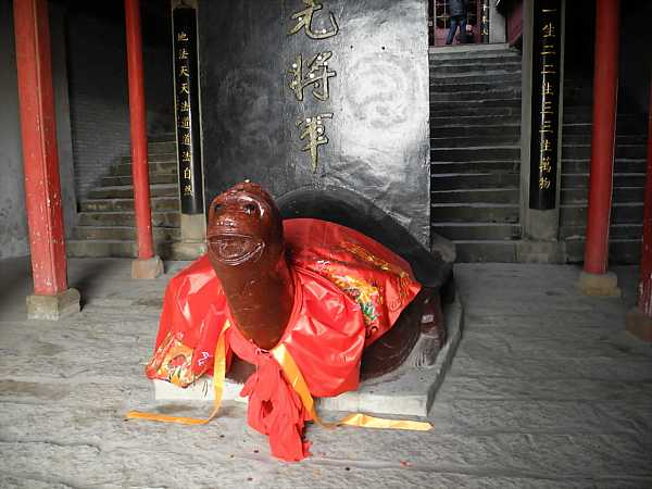 Turtle in the entrance of Laoye Temple