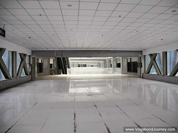 Empty halls of the ghost mall