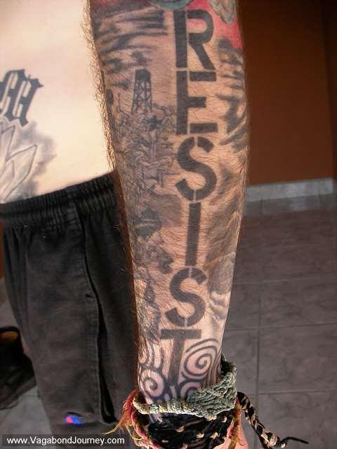 Tattoos of vagabond journey for Aztec mural tattoos