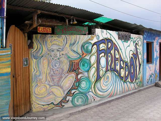 Hippy bar in San Pedro, Guatemala. I do not know what gives me this