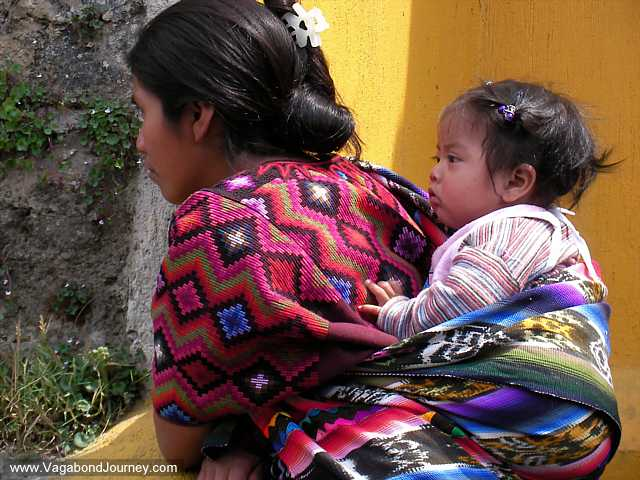 Papoose And Baby In Guatemala