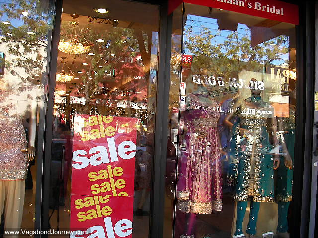 Saris and Indian clothes for sale in Queens, New York City