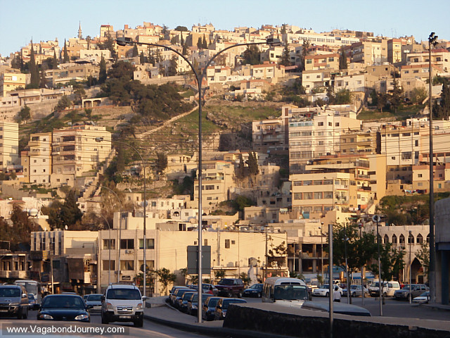 streets and houses on hills in amman