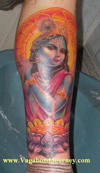 tattoo of krishna. Indian