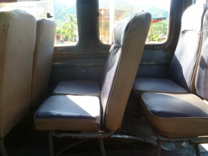 Colombian buses - no leg room