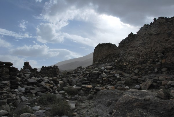 Remnants of a fort along the Afghan border
