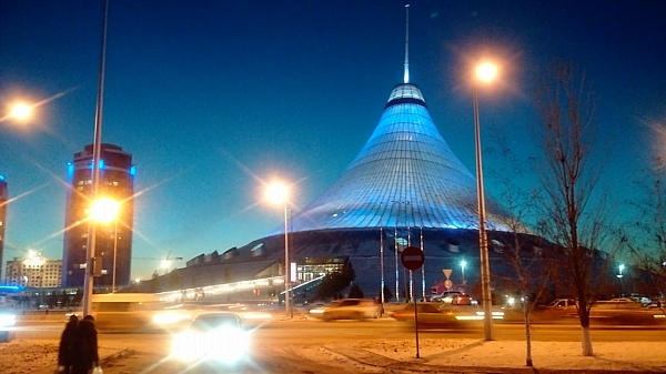 Astana yurt mall at night