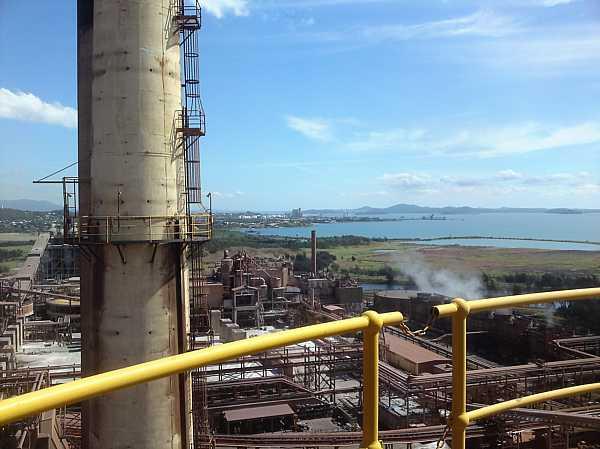 Australian Power Plant Stack at Alumina Refinery
