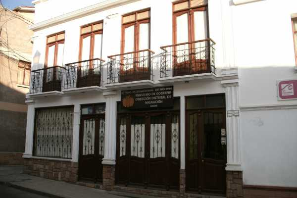 The Bolivian Immigration Office in Sucre