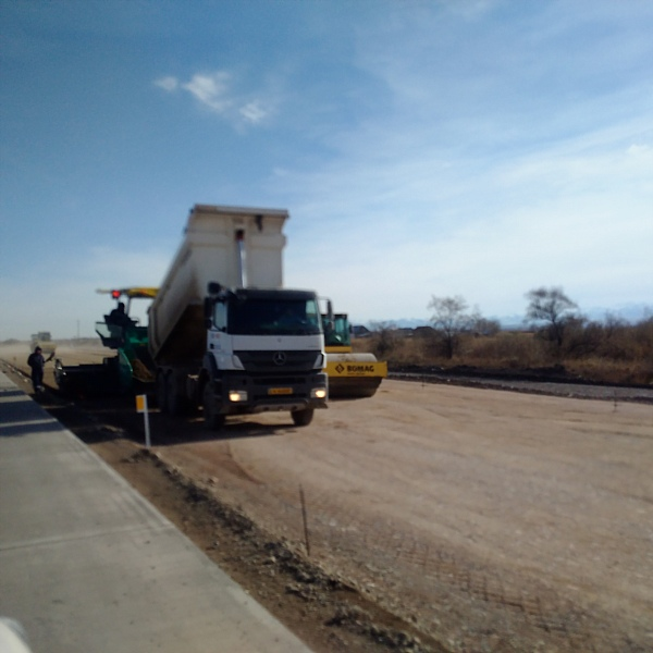 Construction on the WE-WC Highway in November 2015.