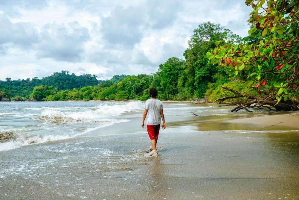 ing by tropical beach in Manuel Antonio National Park, Costa Rica