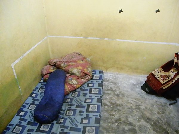 Bed where I slept