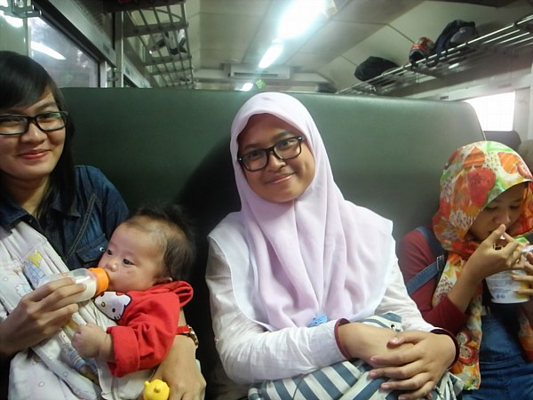 Indonesian women on train