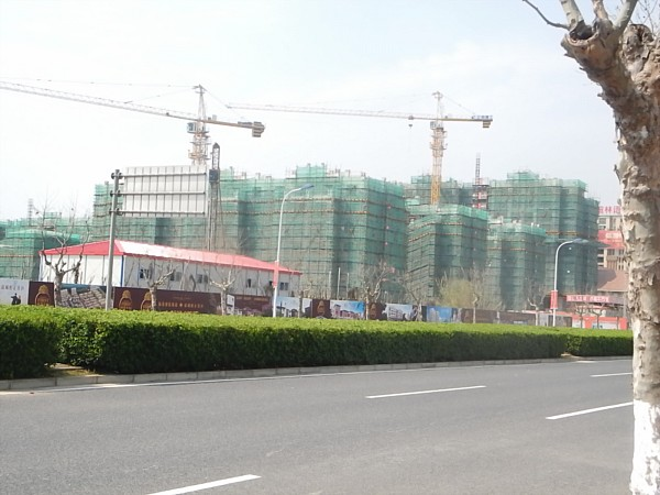 Buildings still under construction in Nanhui