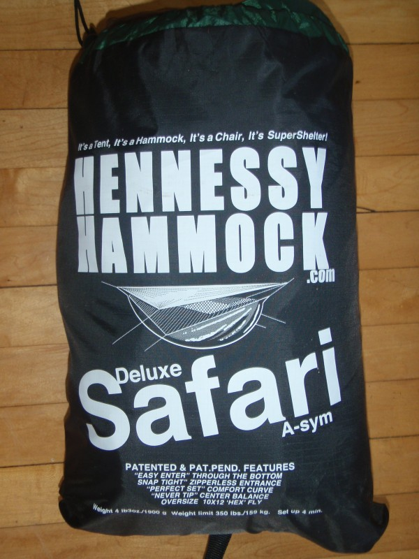 Hennessy Hammock Safari in bag