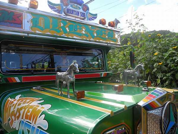 Philippines Jeepney horses hood