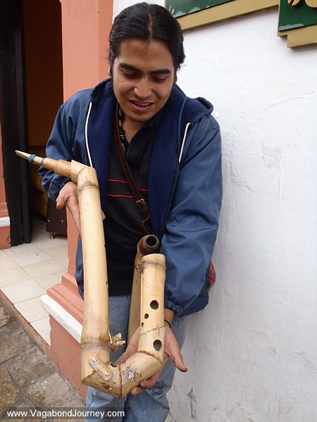 Bamboo saxophone
