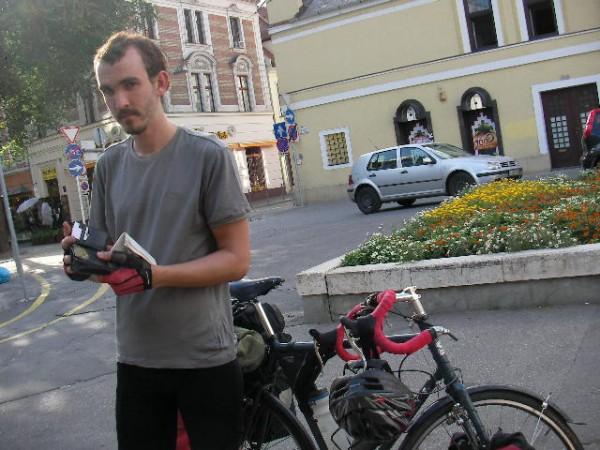 Bicycle Luke in Hungary