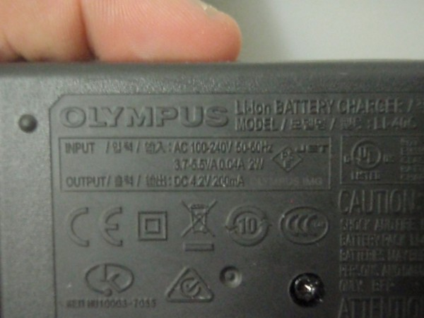 Most camera chargers also take between 100 and 240 volts