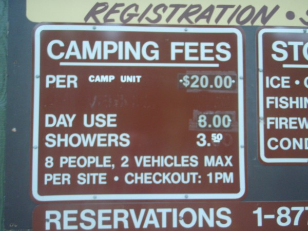 Fees for camping in Arizona