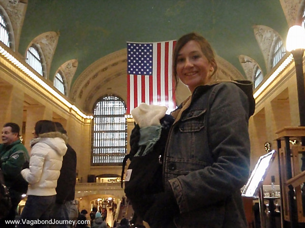Chaya and Petra in Grand Central Station