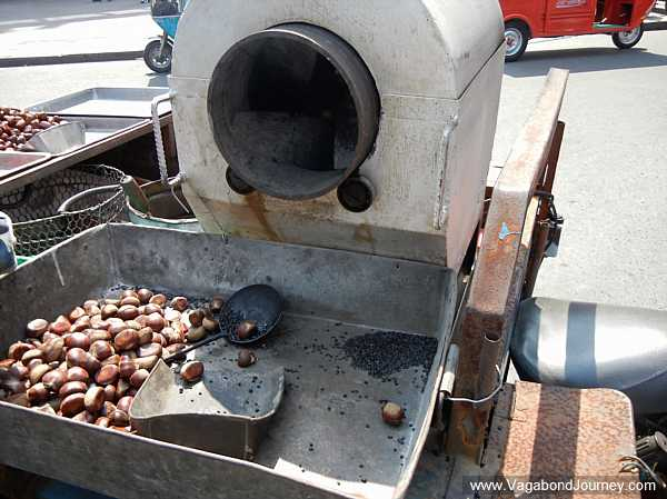 Chestnut roaster in China