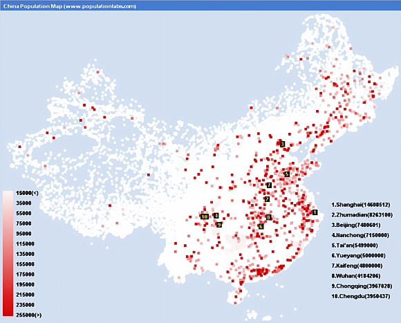 China population density