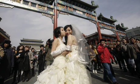 Chinese lesbians getting married