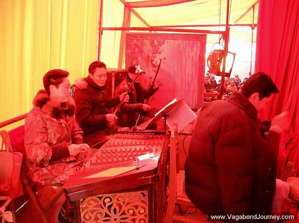Chinese opera musicians