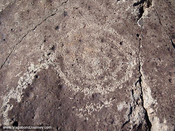 Concentric circle petroglyph