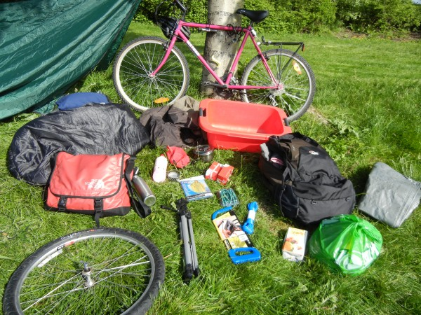 Gear for bicycle travel in Iceland