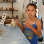 Girl Selling Tourist Shop