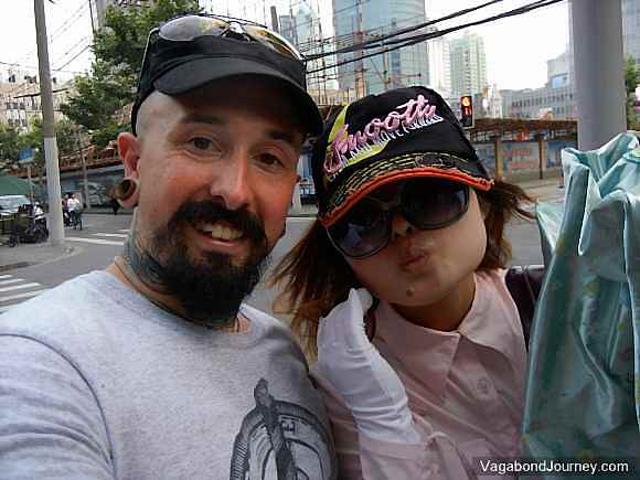 Shanghai girl and Wade Shepard