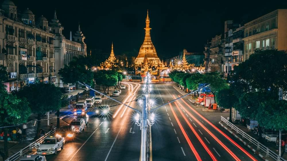 Myanmar city